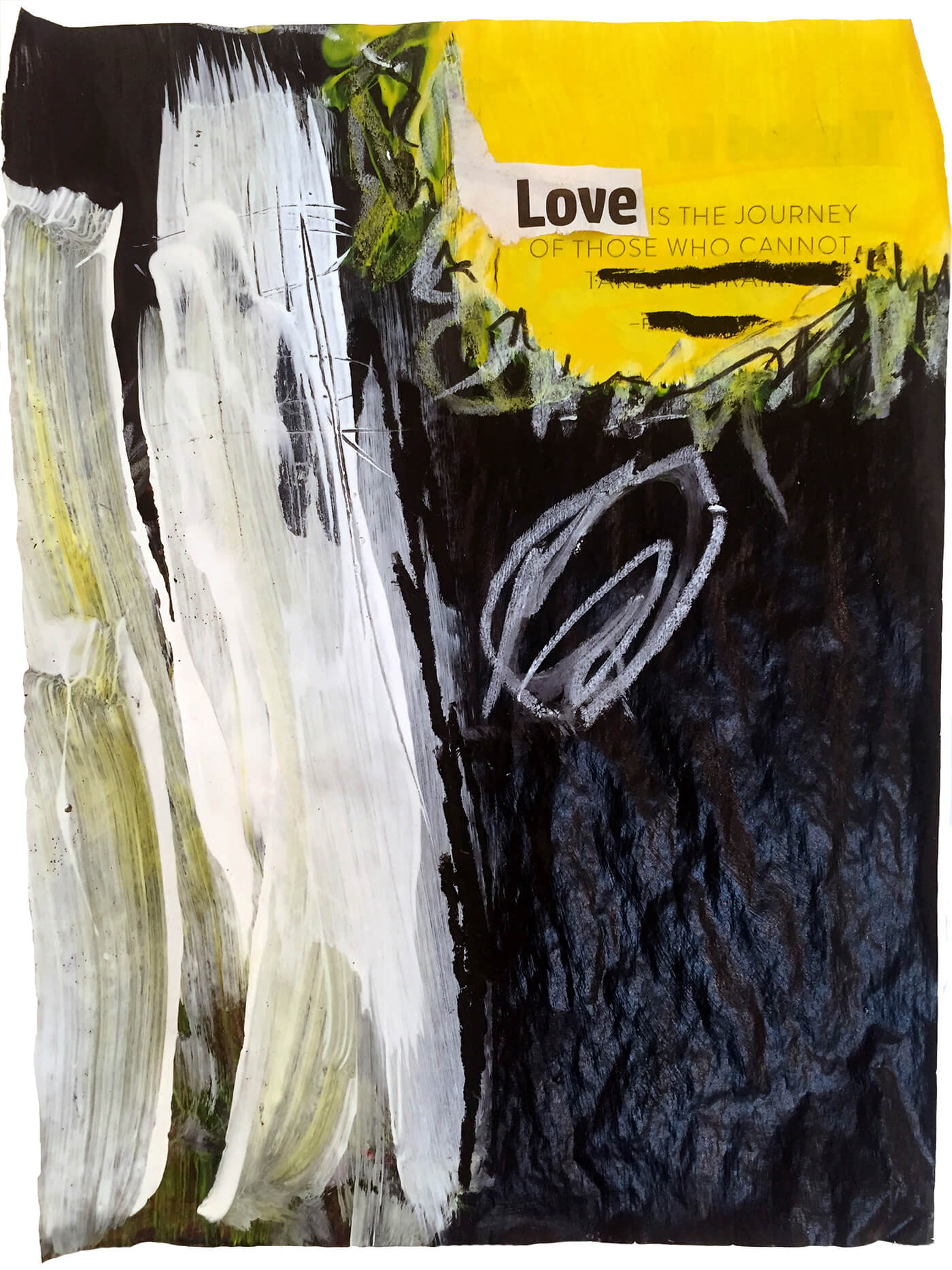 quo vadis love yellow abstract artwork