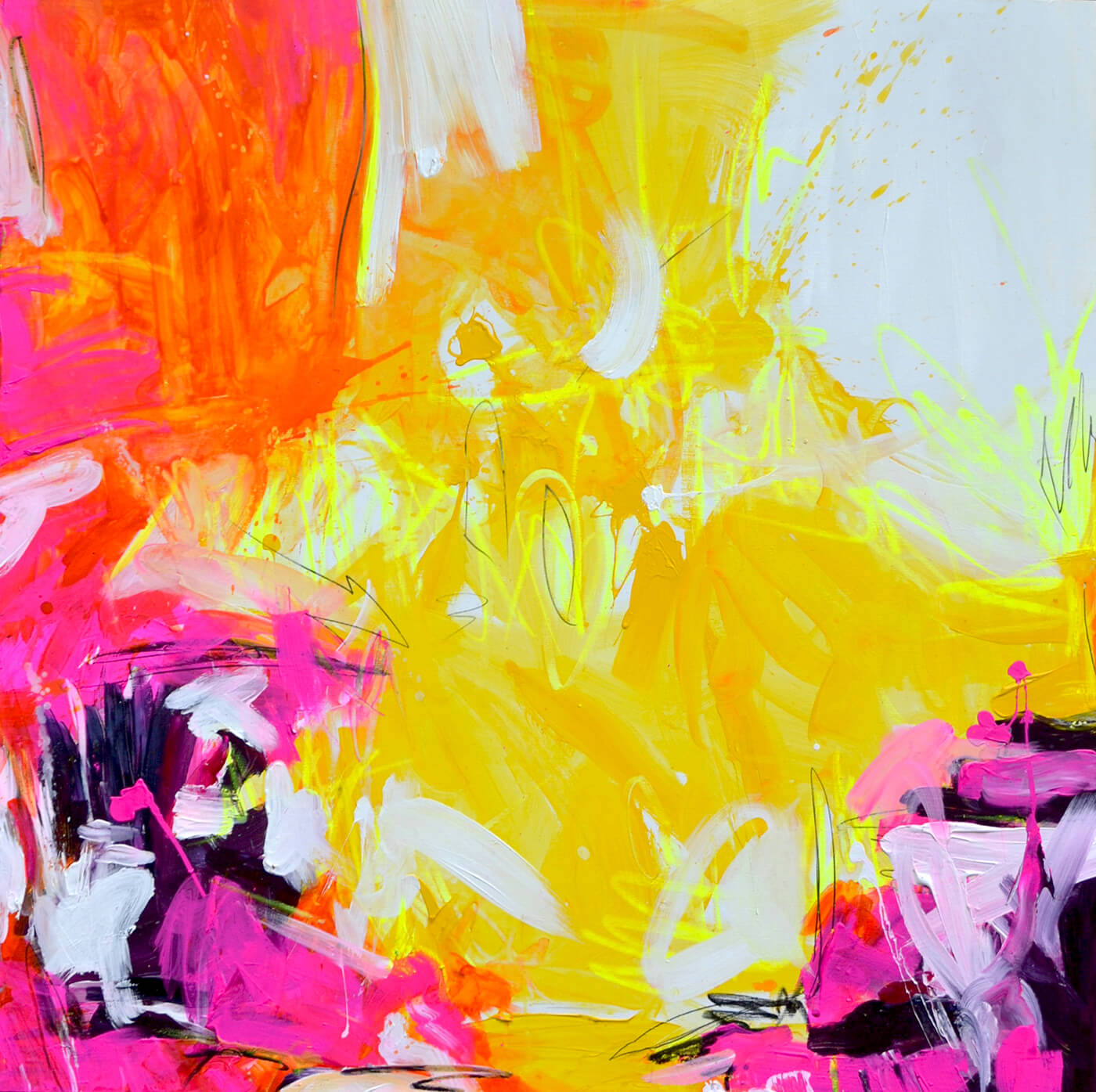 Essenz I AM abstrakte informelle Kunst Petronilla Hohenwarter Künstlerin Bali