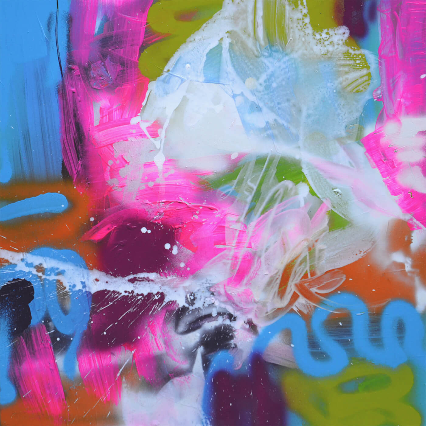 love turn around table Kunstwerk abstract expressive colourful