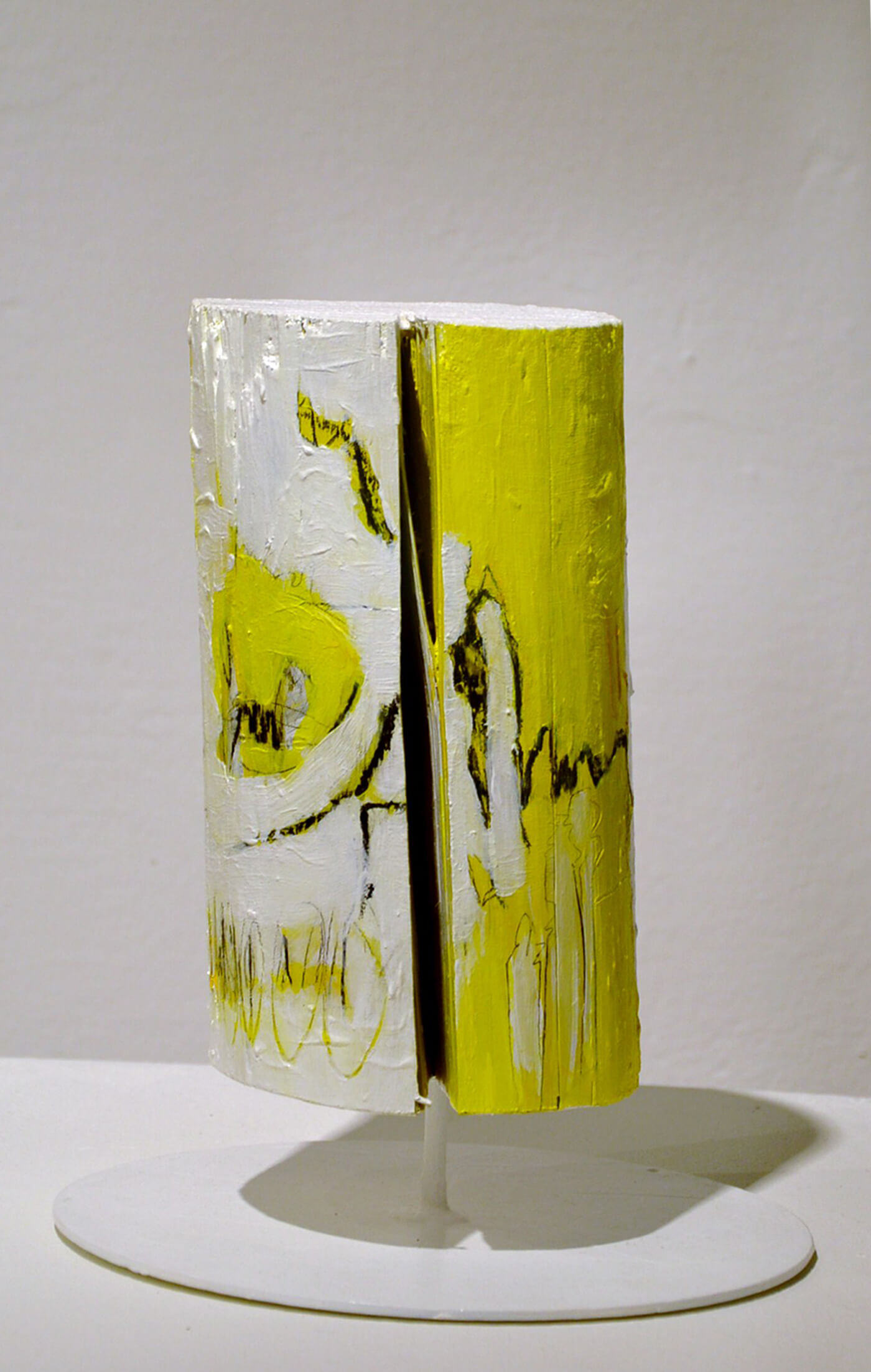 sign of love art object white yellow