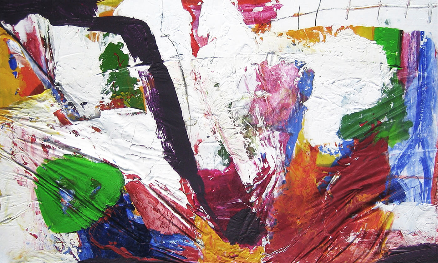 abstract artwork on canvas colourful