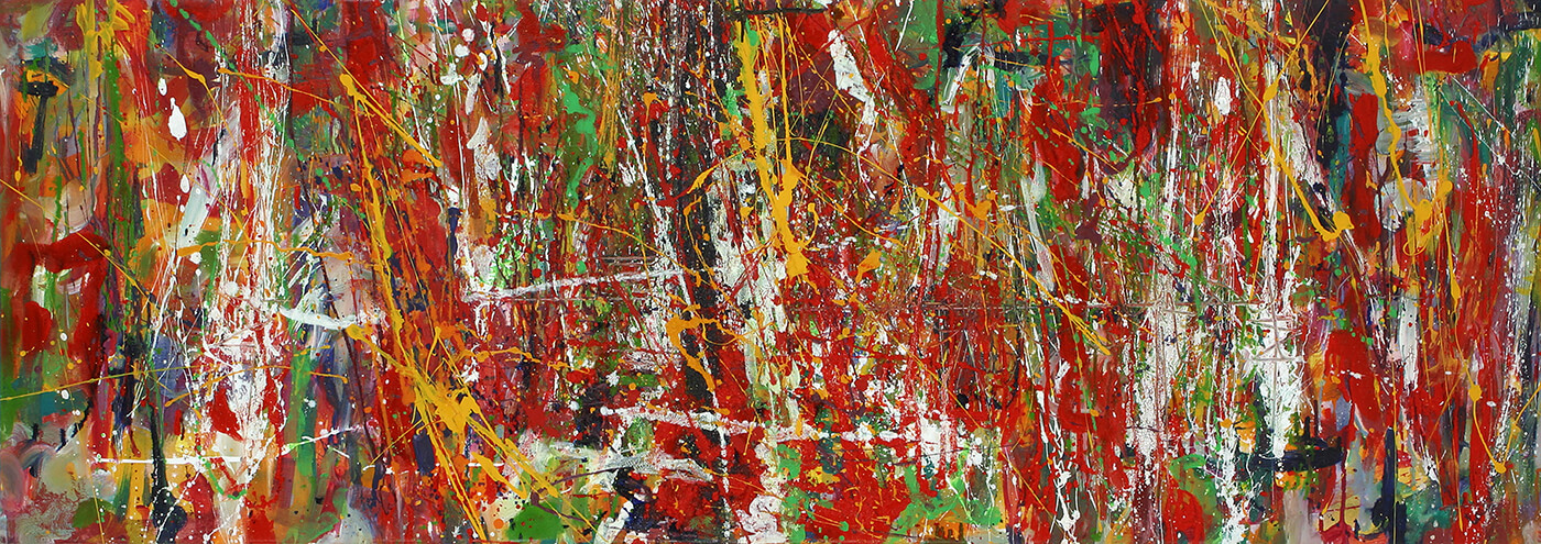 abstract expressionism canvas colourful universe individuality