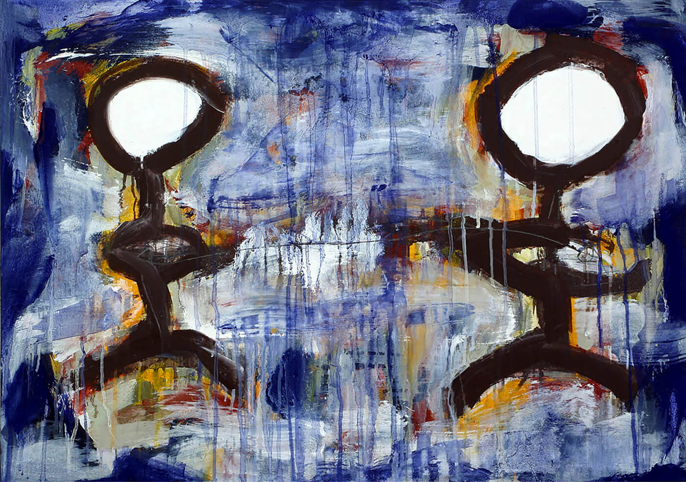abstract expressionism canvas blue universe individuality
