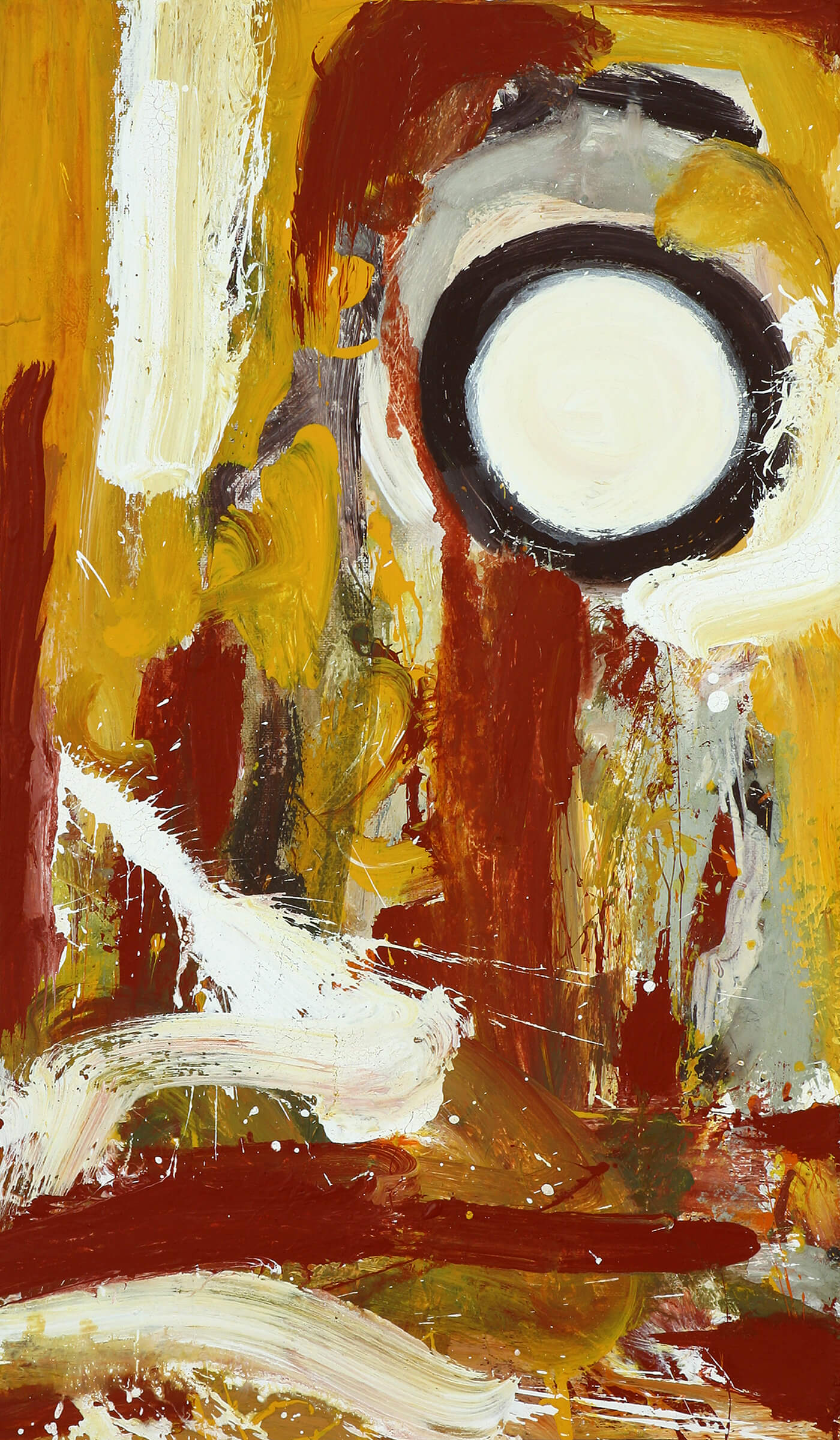 abstract expressionism canvas yellow universe individuality