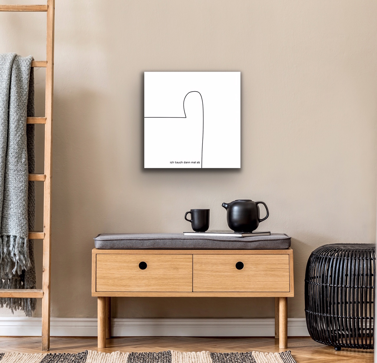essential acrylglasprint barytprint affordable art digital drawing digitale Zeichnung petronilla hohenwarter schwarz black