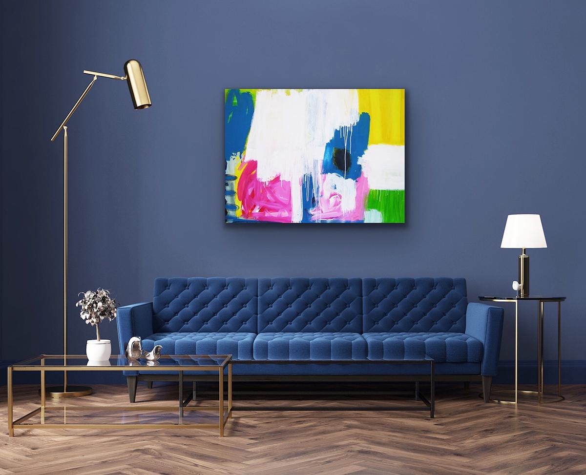 humility on my soul blau blue room interior art kunst wohnen living