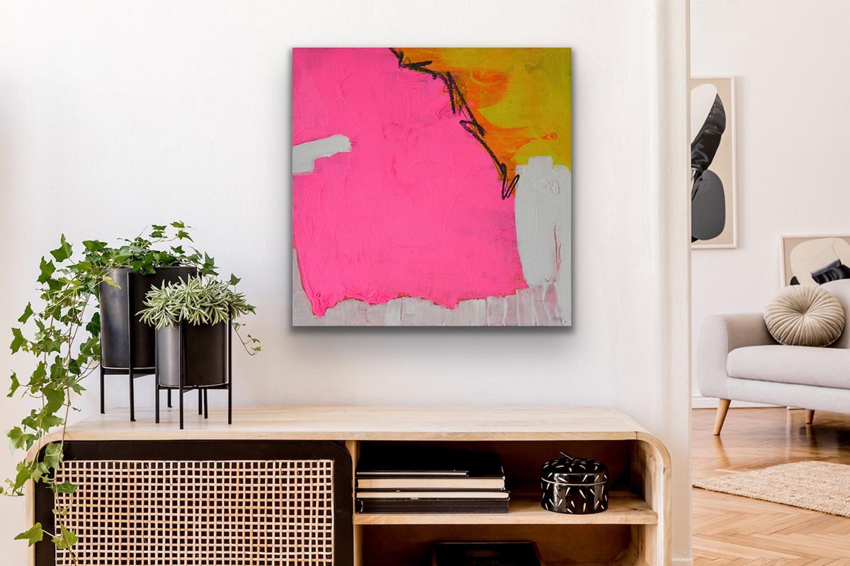 contemporary art pink pleasure of love art interior kunst wohnen petronilla hohenwarter