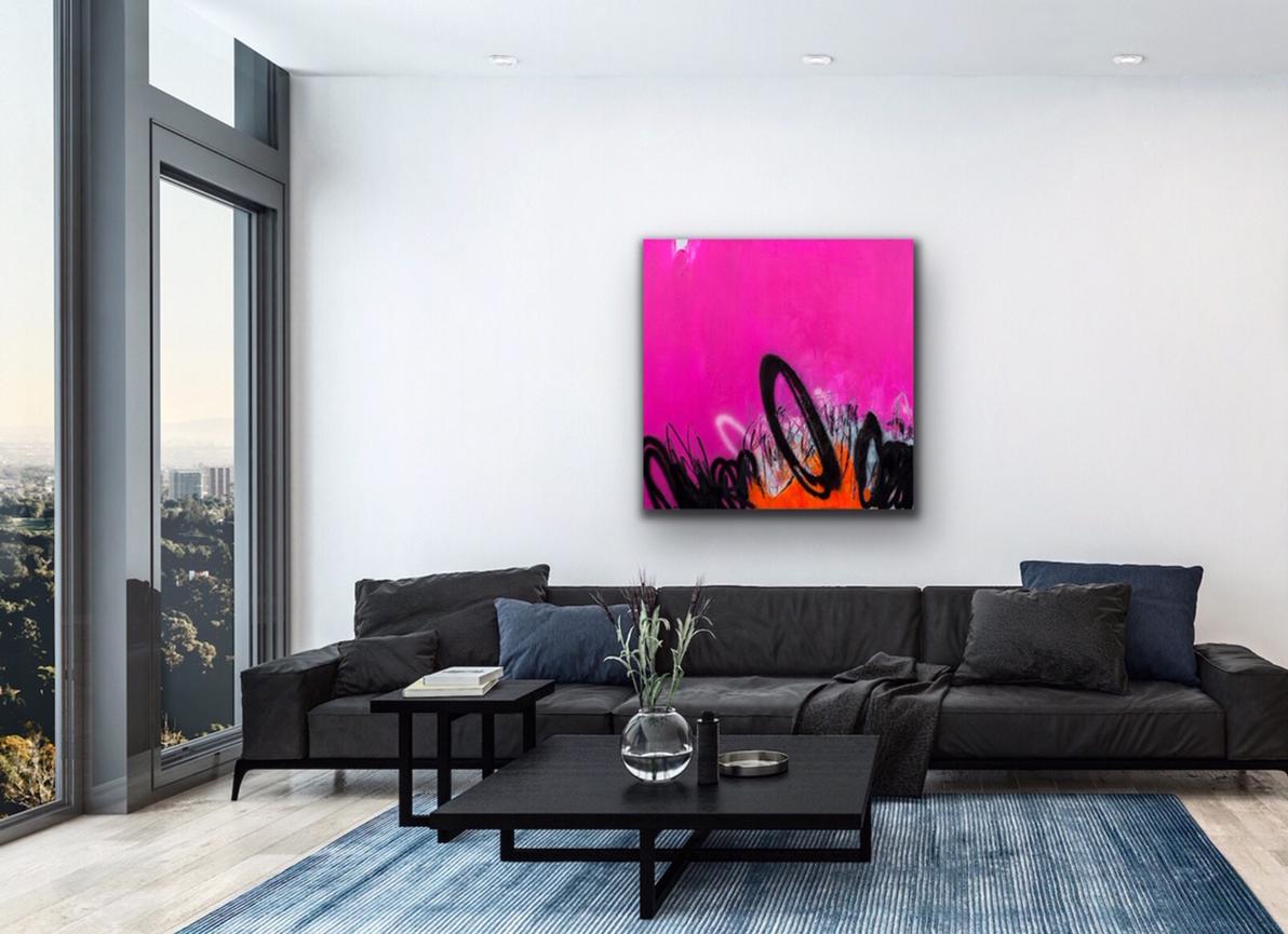 pink black interior art kunst wohnen petronilla hohenwarter