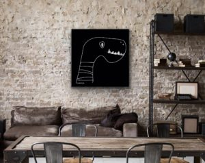 essentials glas print affordable art portfolio digital drawing Petronilla Hohenwarter