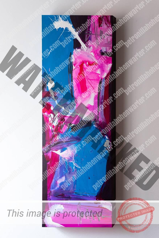 empowerment abstrakt artwork blue pink Ermächtigung