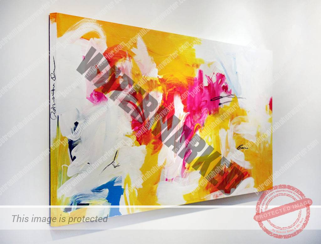 love abstract artwork expressive yellow colourful