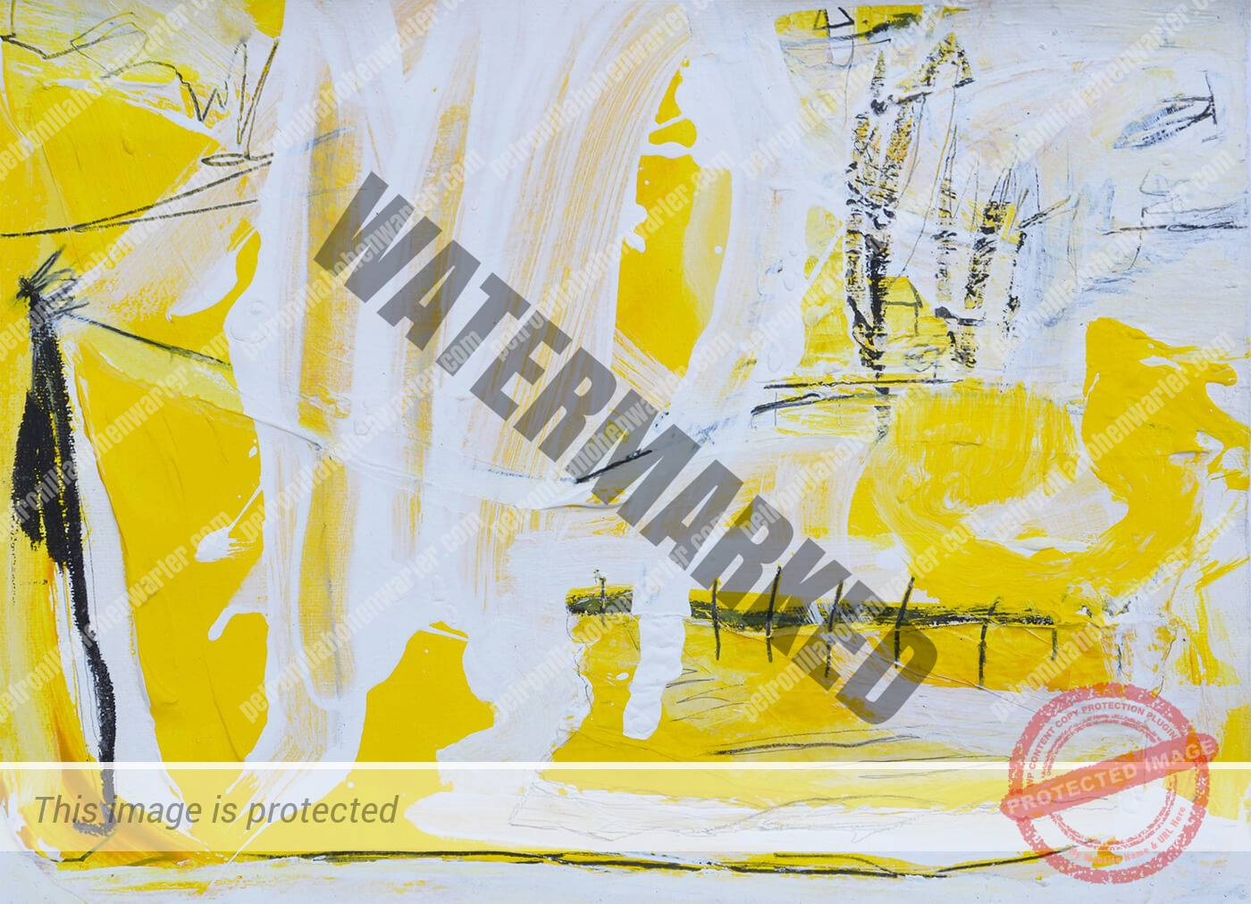 yellow abstract artwork synergy of love
