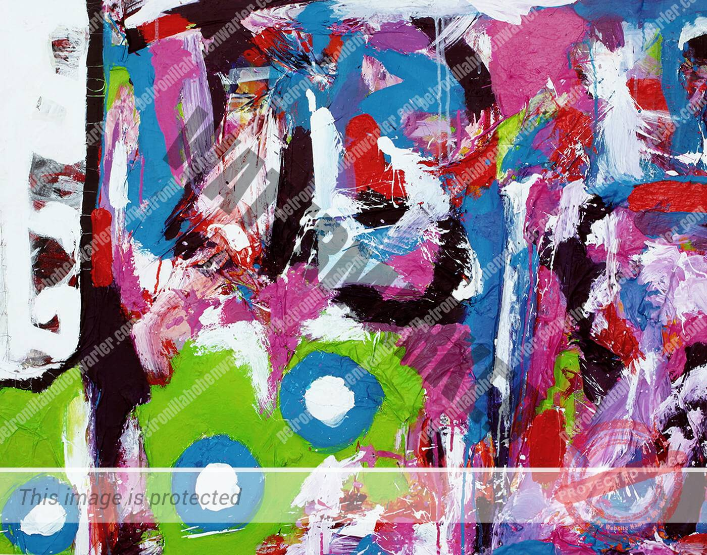 abstract artwork expressive colourful love