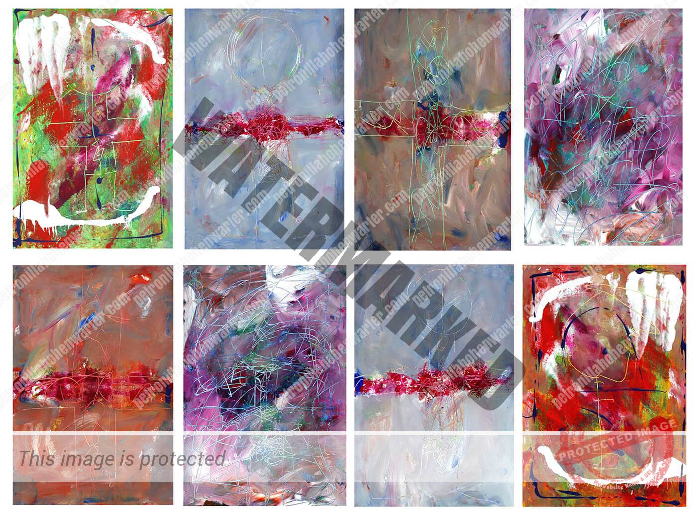abstract expressionism paper colourful universe individuality