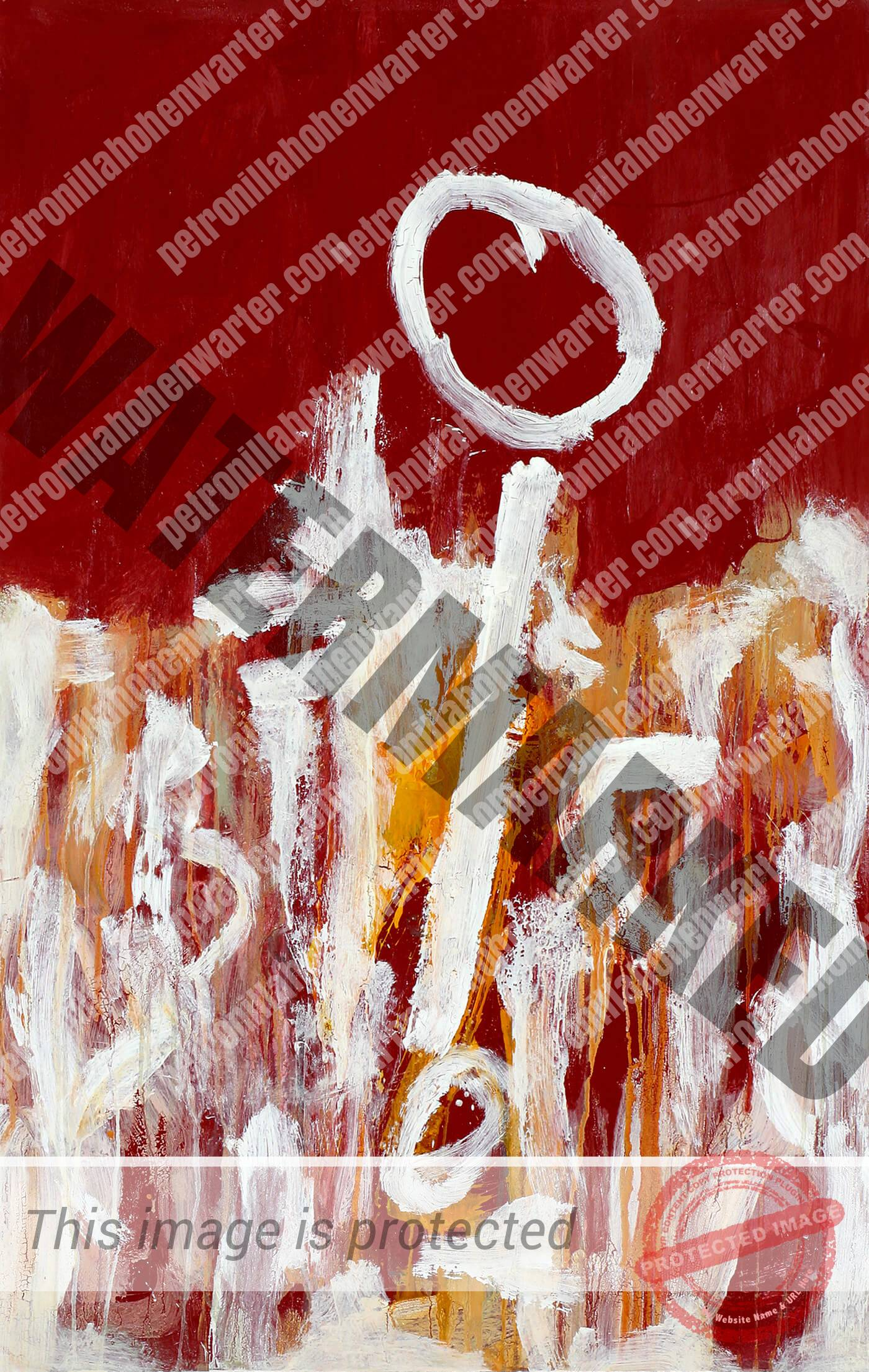 abstract expressionism canvas red universe individuality