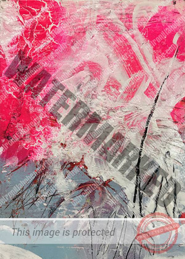 beloved child art collection abstract artwork small artwork pink blue white