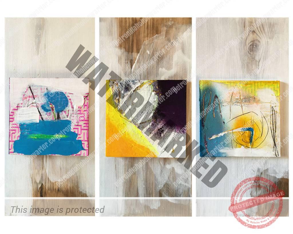 the anchor belief trust love yourself artwork triptych assemblage Votivbilder votivtafel urban guide