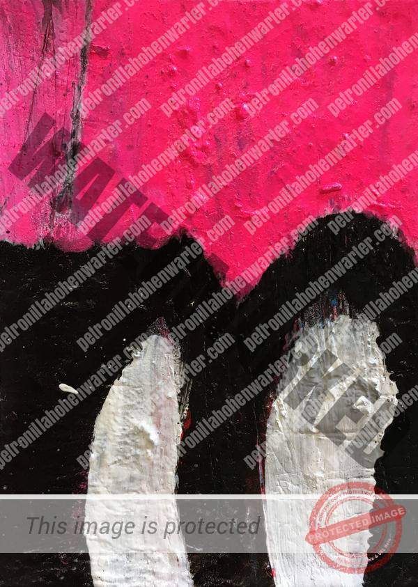 beloved child art collection pink black yellow small artwork abstract expressionism