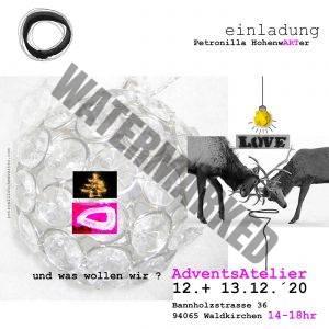 adventsatelier Weihnachtsatelier Kunstatelier Artstudio Petronilla Hohenwarter
