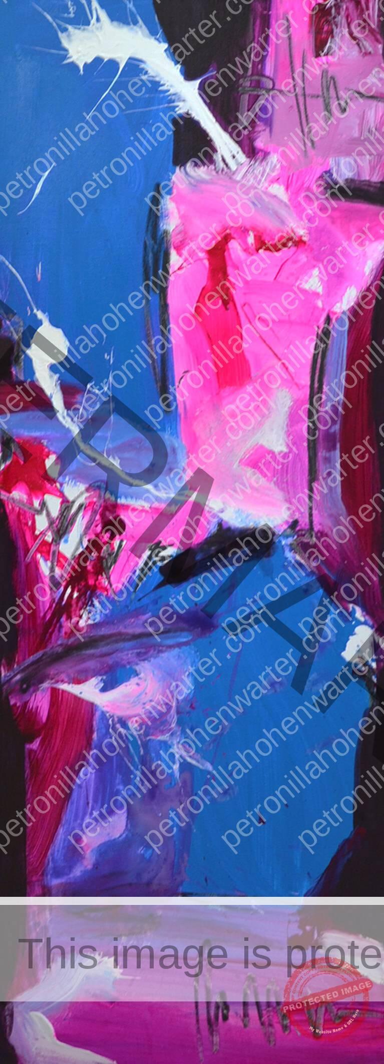 pink blue abstract artwork empowerment