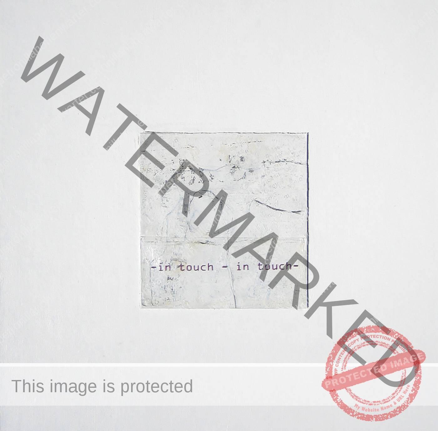 in touch drawing Zeichnung white graphite cardboard wood box