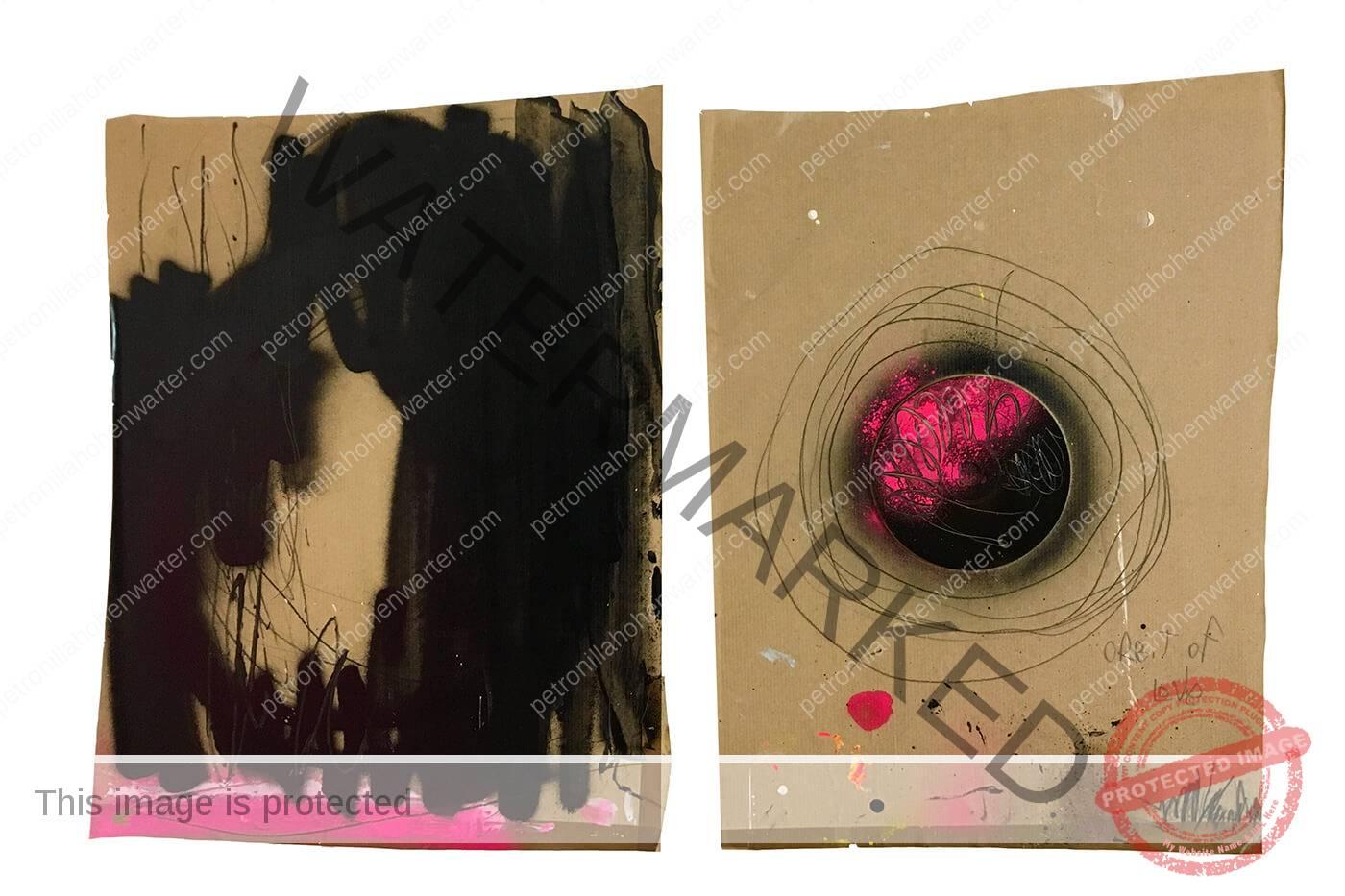 orbit of love Petronilla HohenwARTer abstract art black white painter