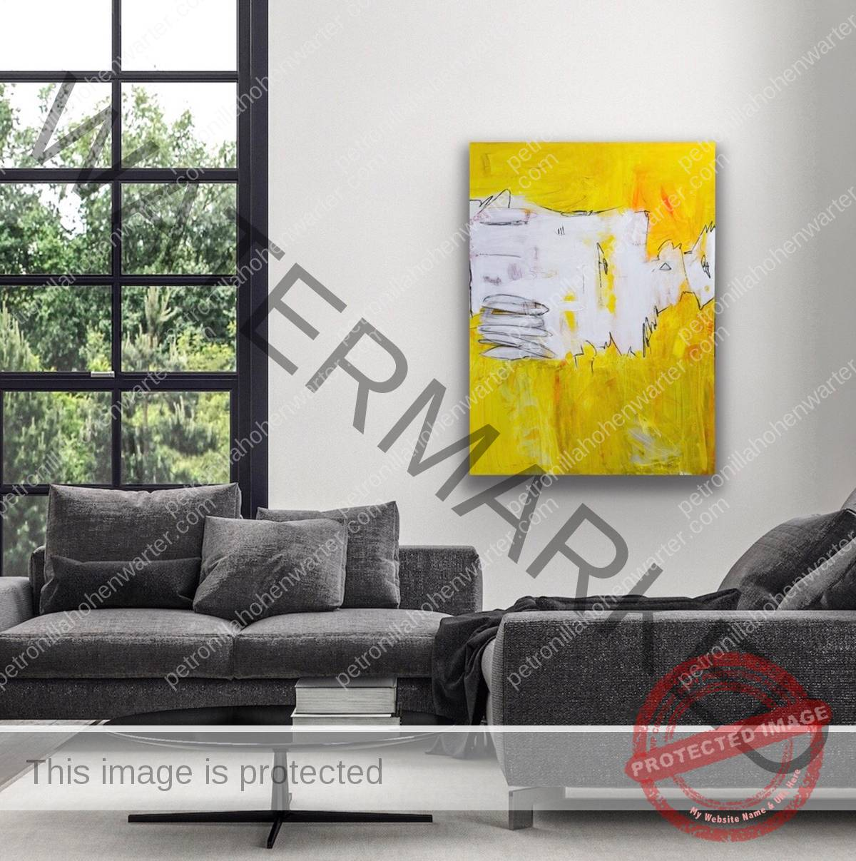 the golden area of love and light artwork painting canvas contemporary art kunst wohnen art interior yellow bright light