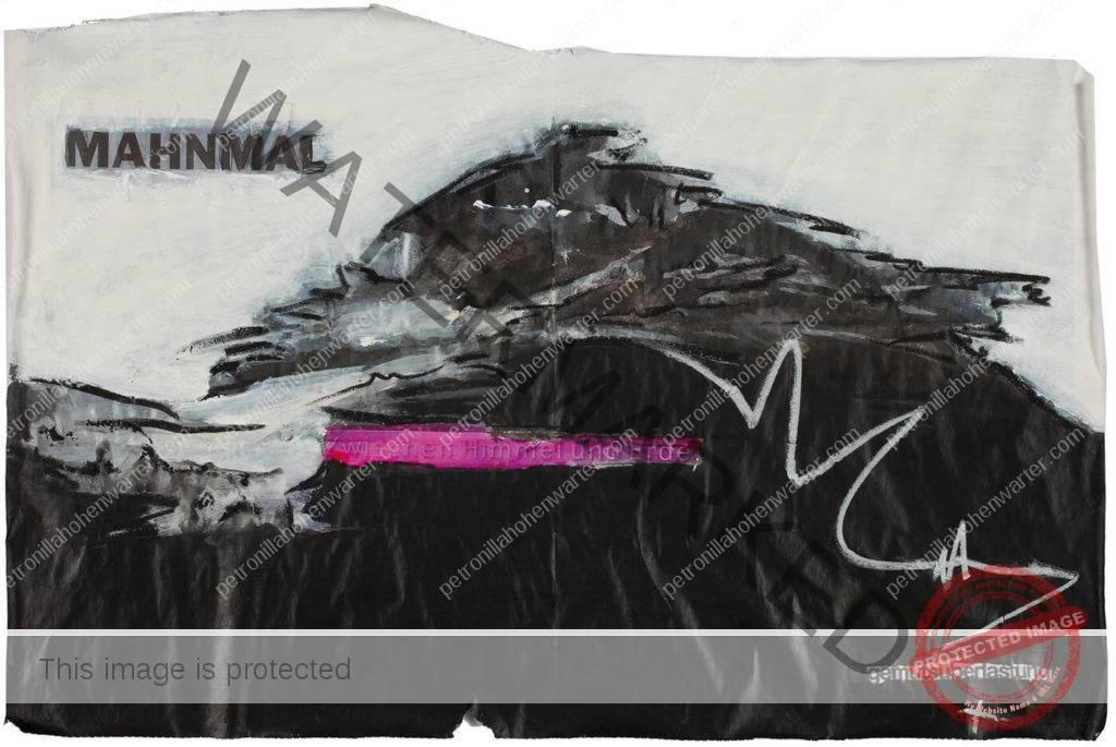 modern artwork collage Quo vadis Gemütsüberlastung corona Mahnmal Himmel und erde Petronilla HohenwARTer Künstlerin artist