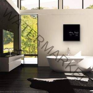 art interior design living essentials affordable art collection artist bathroom black artwork acrylglas print digital drawing