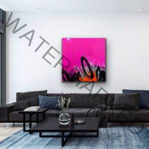 art interior design living room pink artwork resilience masterpiece luxury art black artwork power